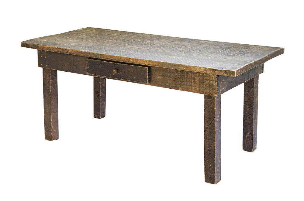 mesa mineira escura com gaveta