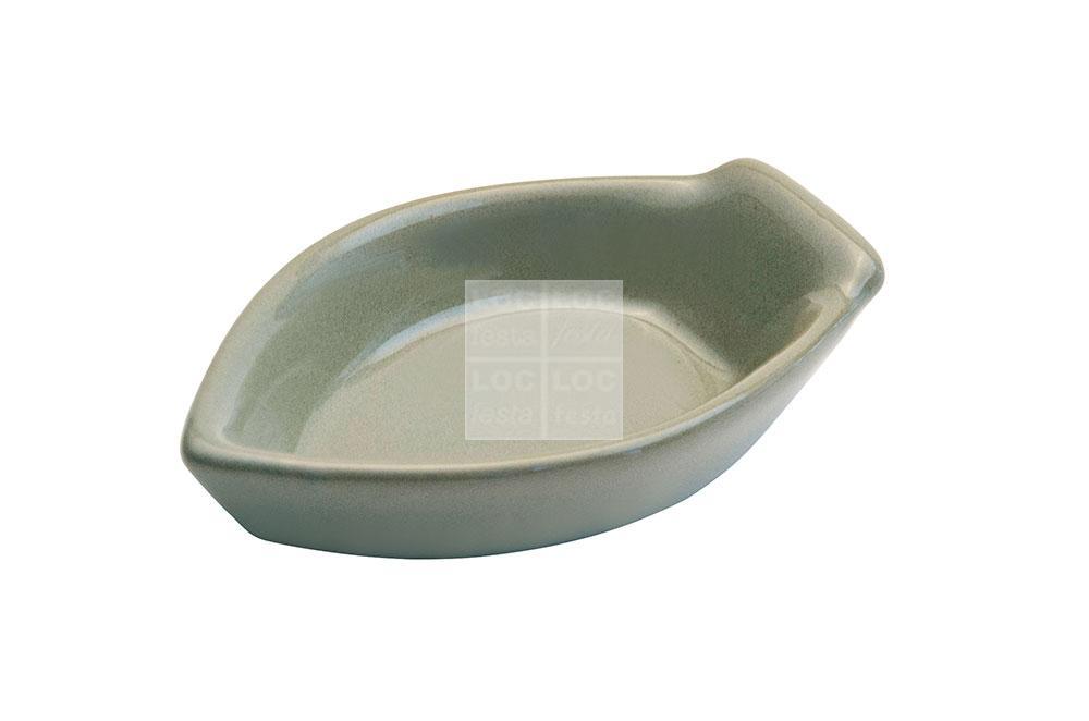 mini barquinho porcelana verde