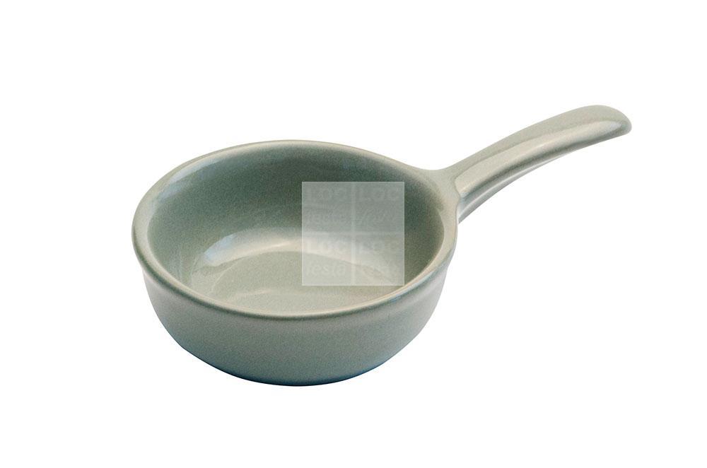 mini frigideira porcelana c/ cabo verde