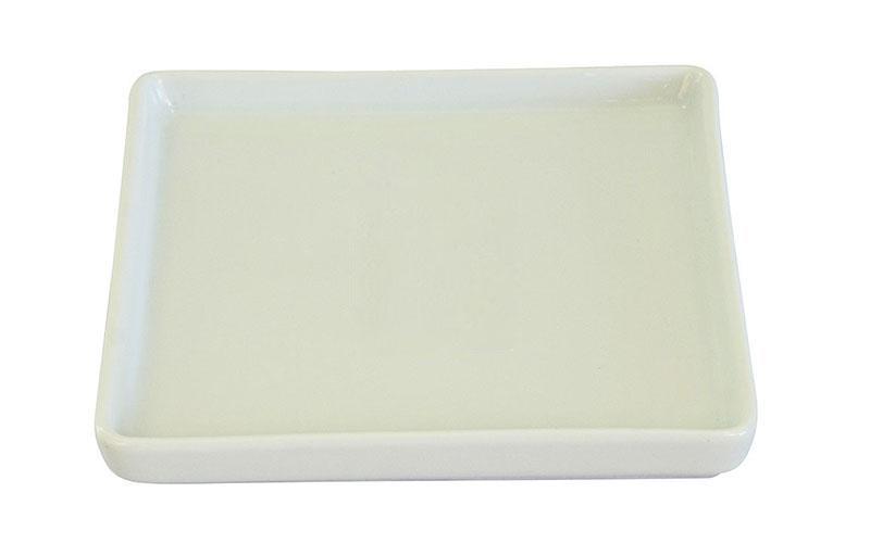 mini prato quadrado com aba