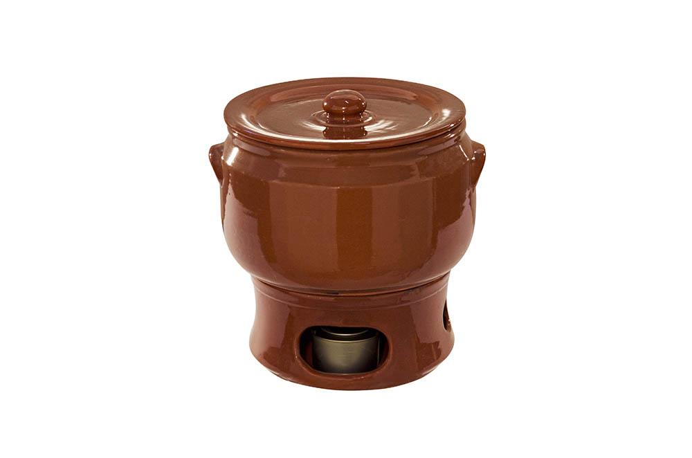 panela e rechaud grande barro marrom – 11 litros