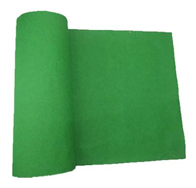 passadeira verde de feltro