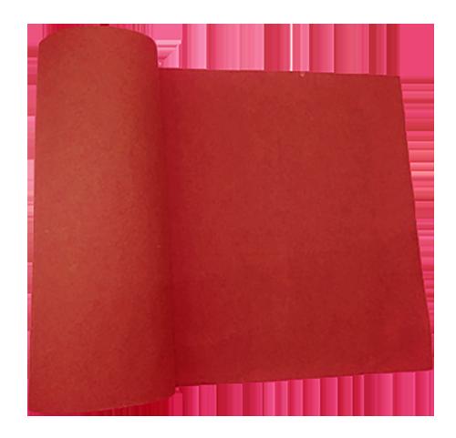 passadeira vermelha de feltro