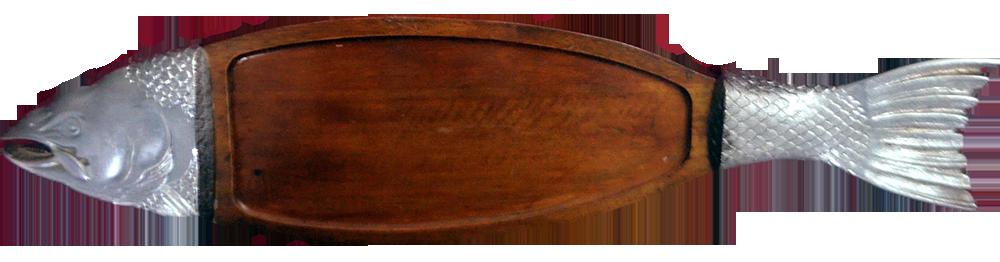 salmão com madeira