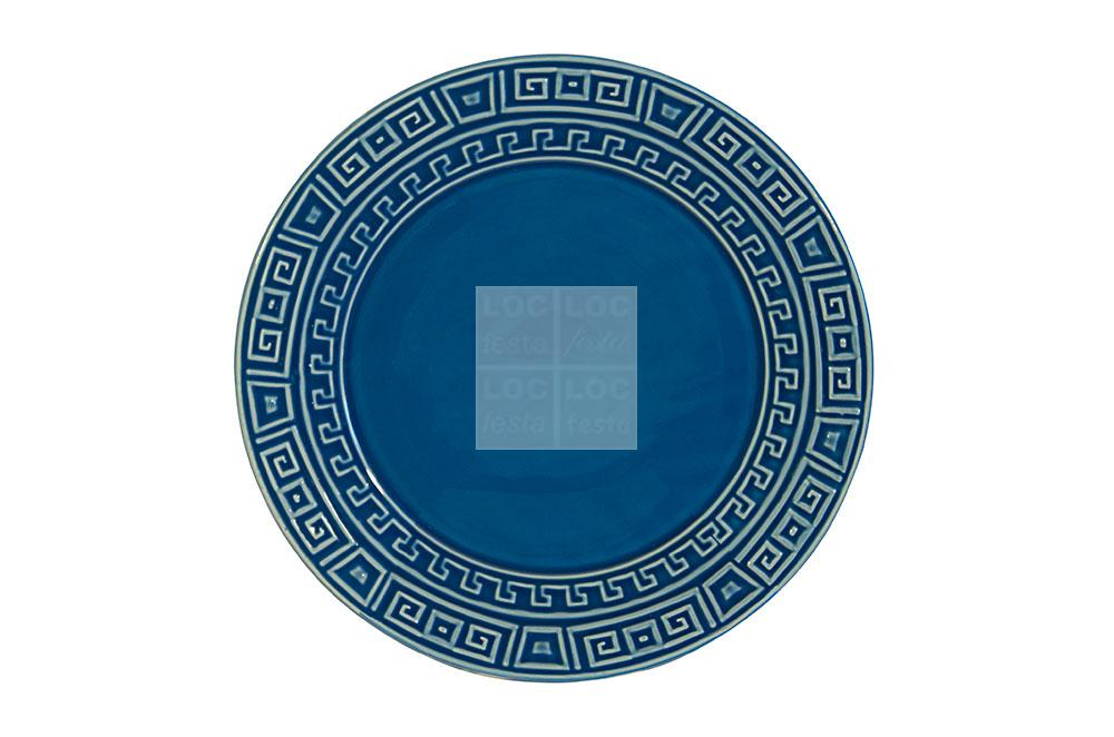 prato canapé porcelana azul