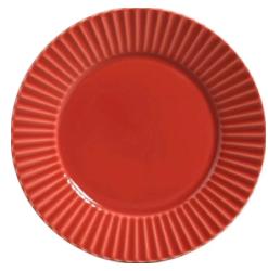 prato plisse vermelho