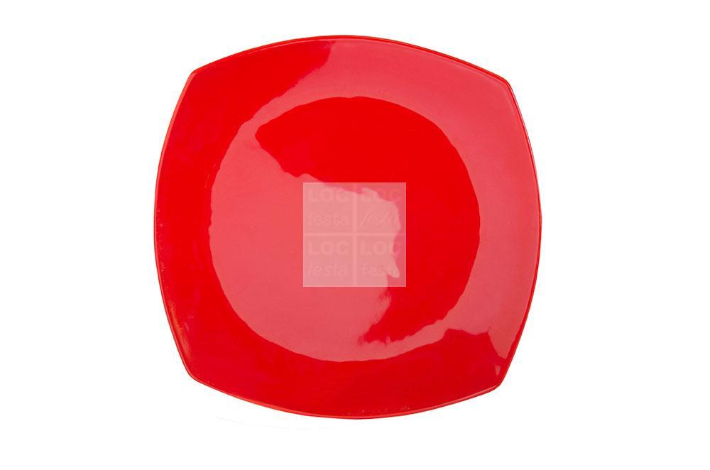 prato quad. 33×33 vermelho porcelana