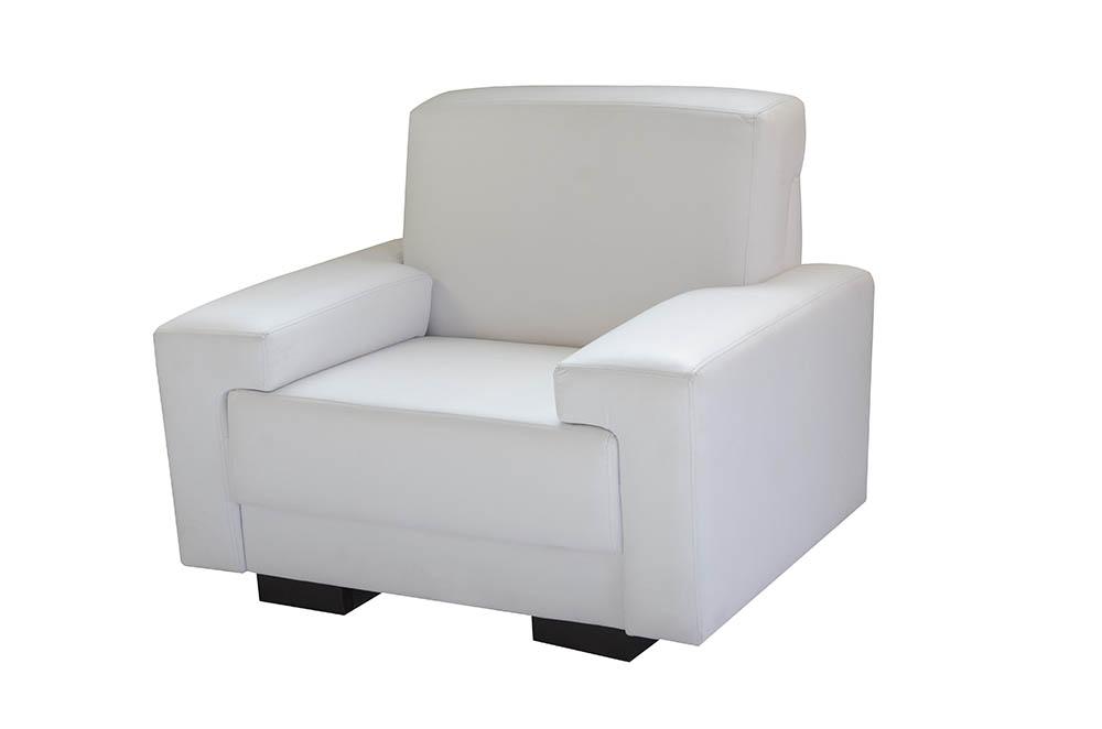 sofá de 1 lugar branco e preto courvin