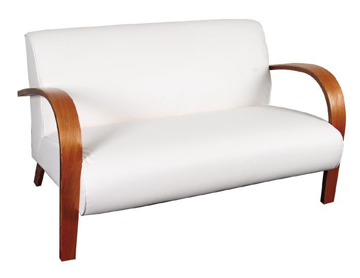 sofá 2 lugares branco - Índia