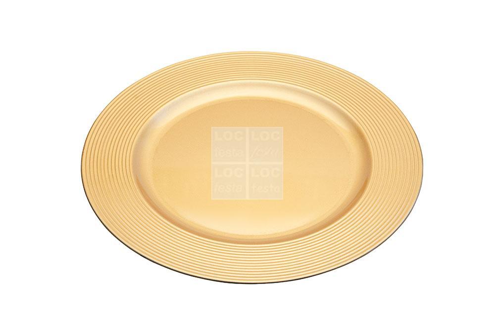 sousplat redondo dourado