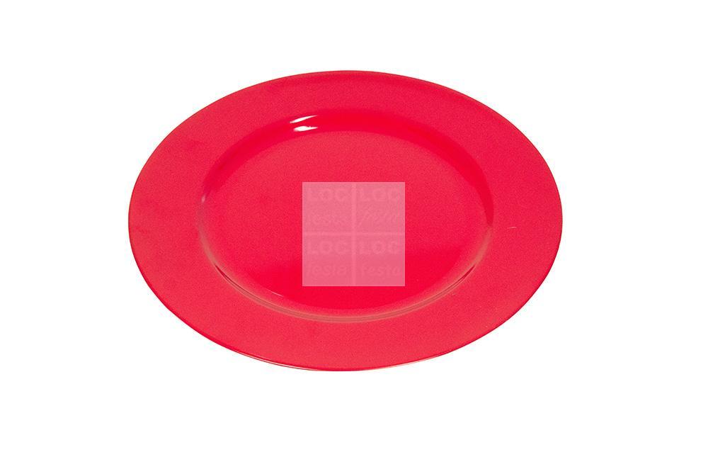 sou plat redondo vermelho