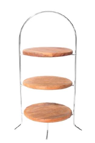 suporte 3 andares madeira