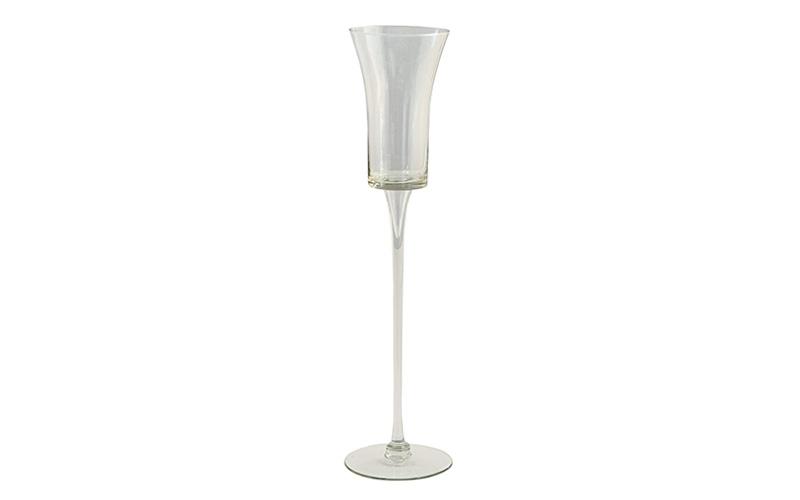 taça alta vidro elegante