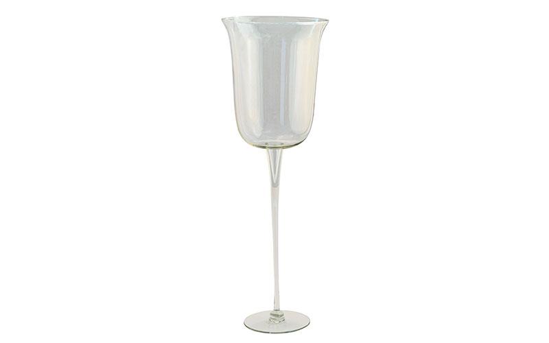 taça alta vidro glamours