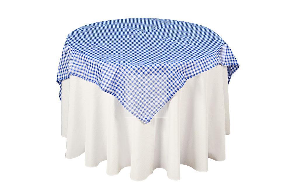 toalha xadrez branca/azul