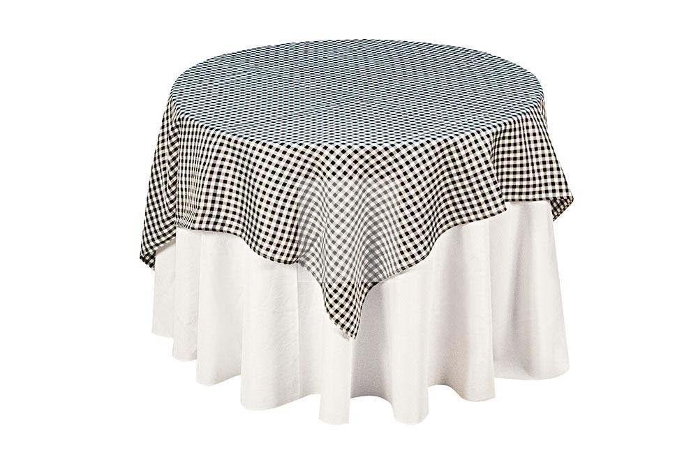 toalha xadrez branca/preta