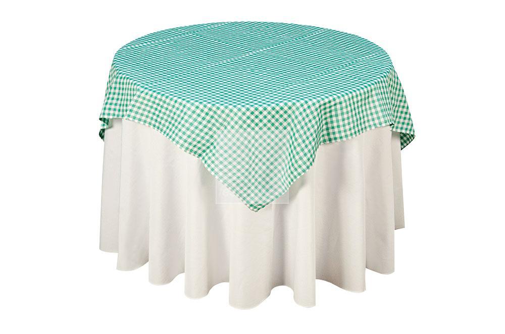 toalha xadrez branca/verde