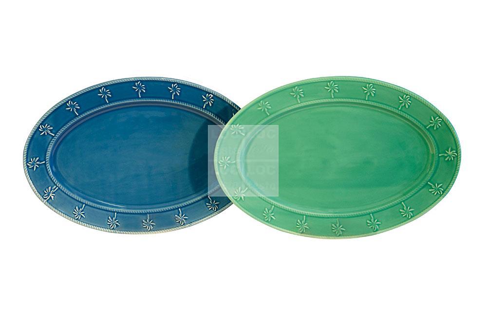trav. oval 0,47×0,32 det. azul e verde