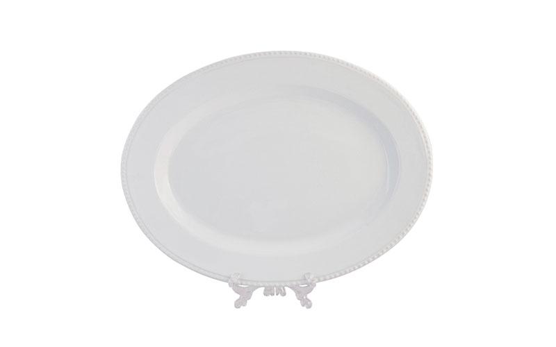 travessa oval 0,54 x 0,41 c/ friso branca