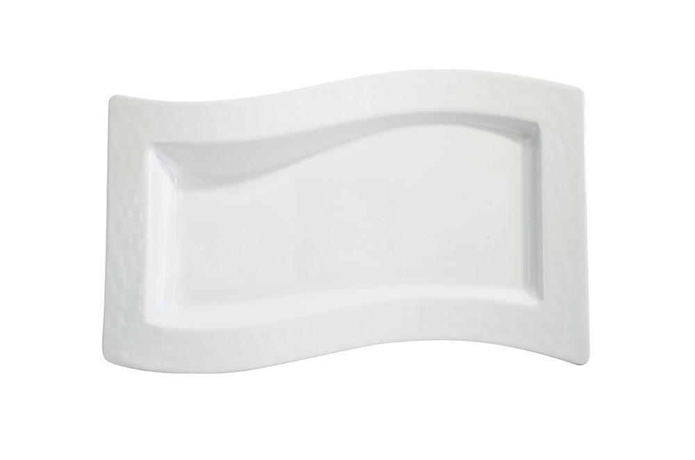 travessa ret. onda 38×21 raso branco melamina
