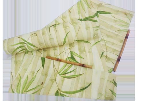 caminho de mesa de bambu