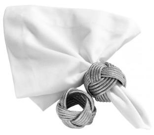 argola p/ guardanapo cordão prata