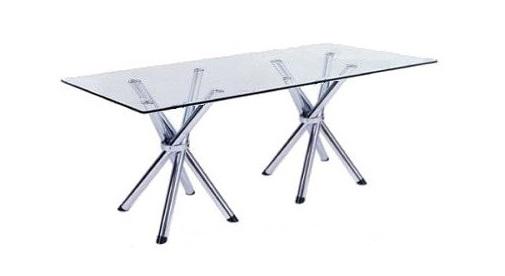 mesa de reunião - pés x cromados